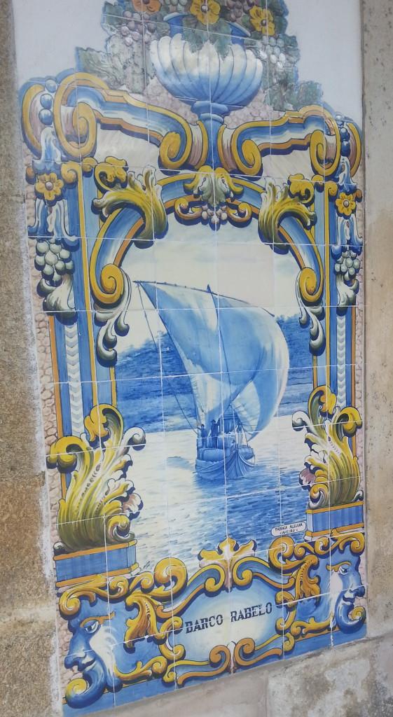 Obraz Barco Rabelo na ceramice.