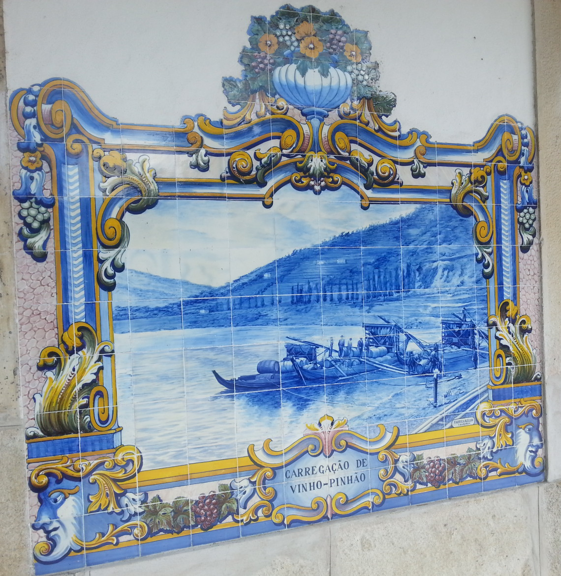 Obraz Pinhao na ceramice