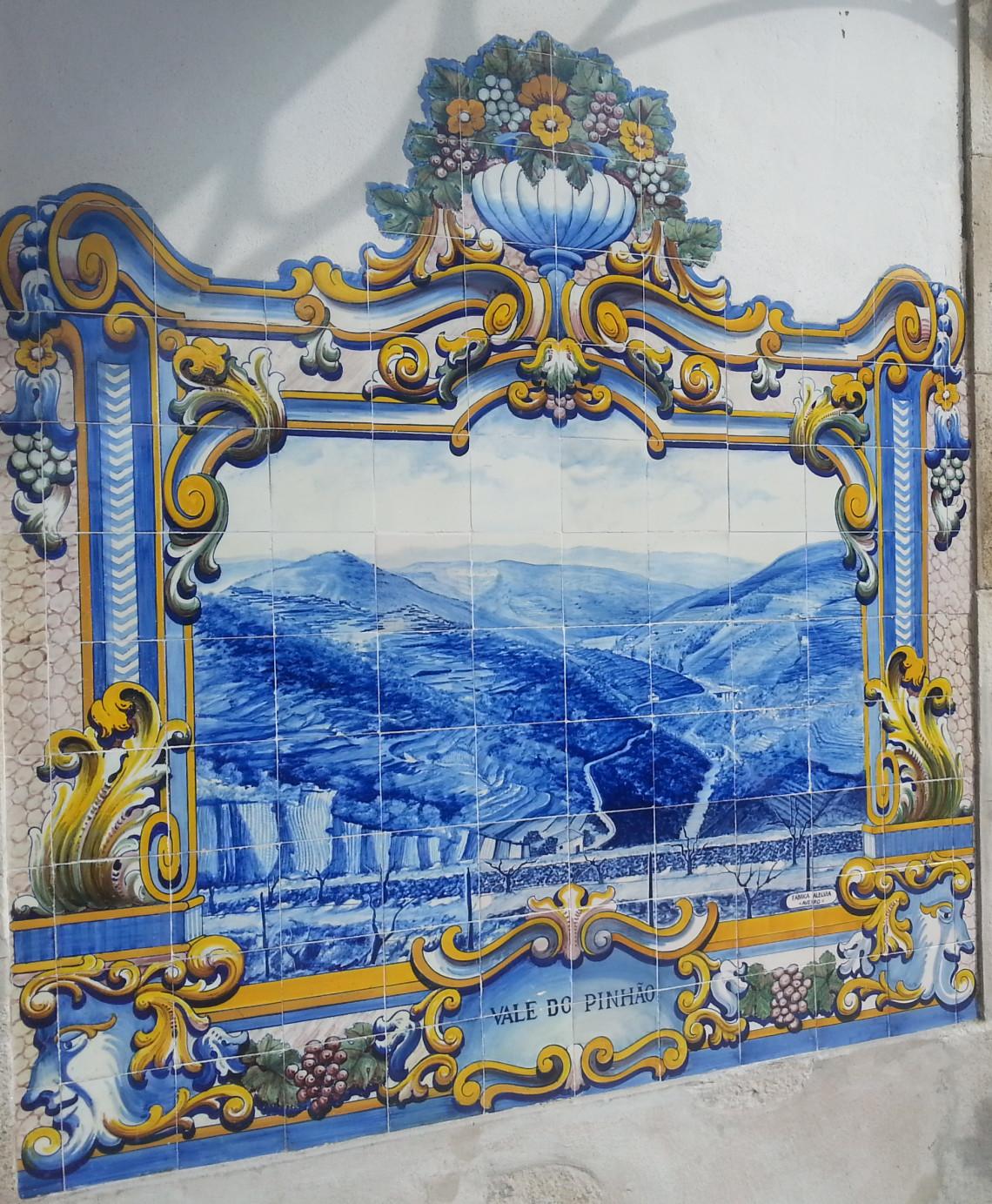 Obraz Dolina Pinhao na ceramice