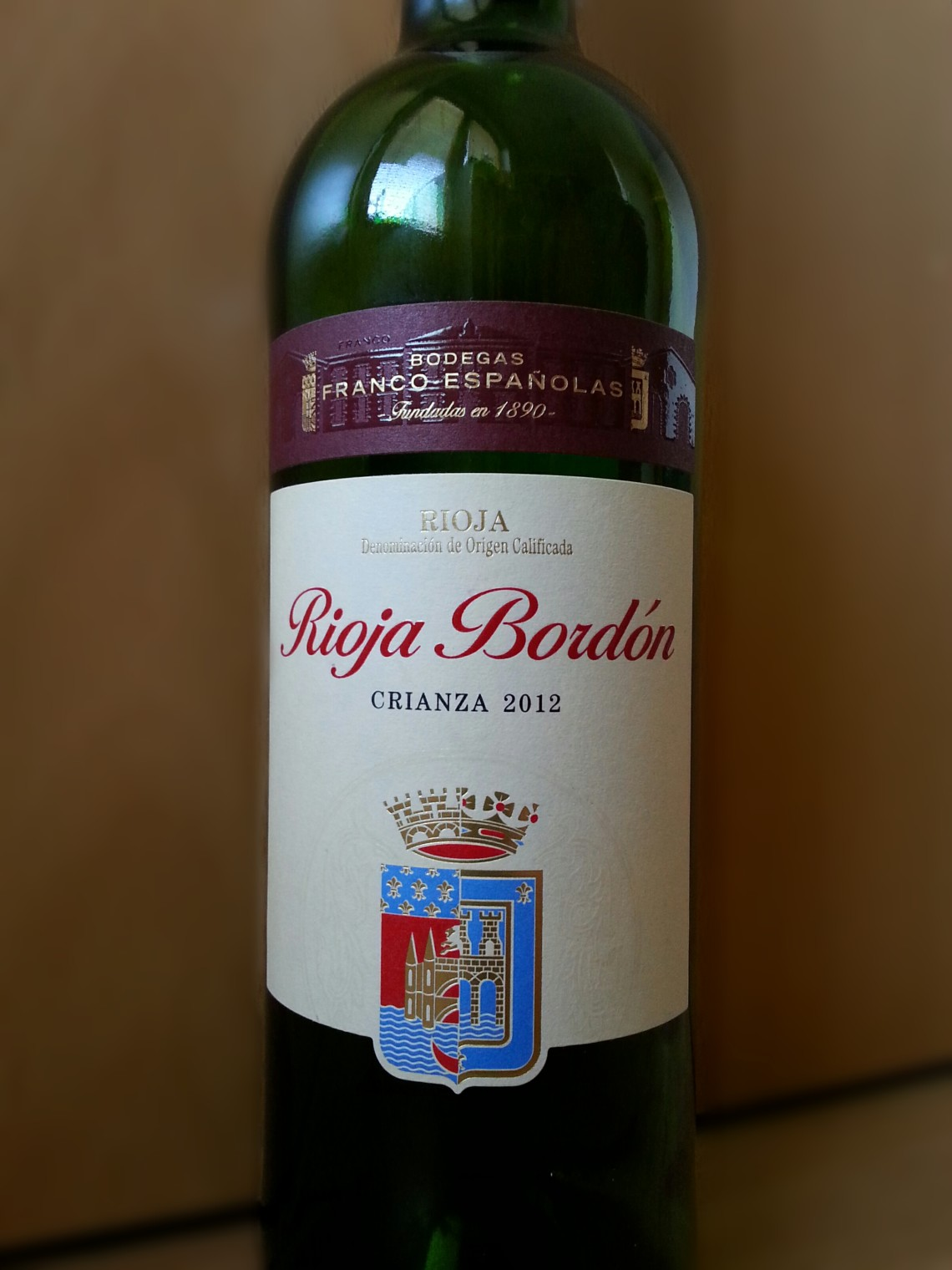 Rioja Bordon Crianza 2012