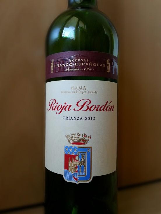 Rioja Bordon Crianza 2012